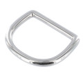 DR020 1 1/4&quot; Nickel Plate, D-Ring, Solid Brass