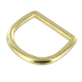 DR030 30mm Natural Brass, D-Ring, Solid Brass
