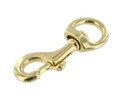 "B3597 3/4"" Natural Brass, Swivel Bolt Snap, Solid Brass"