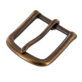 "1035 1 1/4"" *Dark* Antique Brass, Heel Bar Buckle, Solid Brass-LL"