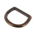 "2011 1 1/4"" *Dark* Antique Brass, D-Ring, Solid Brass-LL"