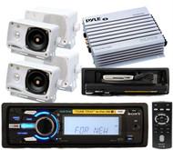 New DSXMS60 Waterproof Marine iPod MP3 2 Pairs Speakers 4 Channel 400W Amplifier