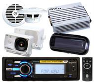 DSXMS60 Marine Waterproof iPod MP3 Speakers 4 Channel Amp Wireless Remote Cover