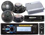 4X52Watt Sony Marine MP3 Receiver Radio 4 Speakers 4 Channel Amp Wireless Remote