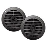 New Enrock EKMSB52 Pair 100 Watts 5.25''  Waterproof Black Marine  Speakers