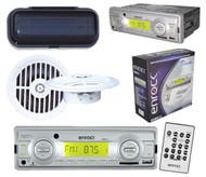 "New 2012 Enrock Marine Media Receiver USB AUX Radio 5.25"" Speakers w/SplashCover"