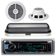 "New KMRD356 Marine CD Radio USB iPod iPhone Pandora Stereo 6.5"" Speakers Cover"