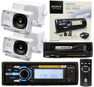 New Sony DSXMS60 Sony Marine Waterproof iPod Radio 4  Speakers Wireless Remote