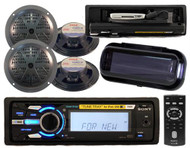 Sony DSXMS60 Marine MP3 Radio Stereo 4 Speakers Wireless Remote W/ Stereo Cover