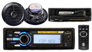 Sony DSXMS60 Marine Waterproof Radio With iPod Tune Tray 2 x Speakers + Remote