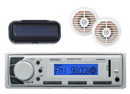 """New Enrock Marine In-Dash Radio USB MP3 iPod Receiver w/Cover, 2 x5.25"""" Speakers - MPE2013"""