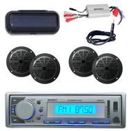 New EKMR20SL Marine Boat USB Player 800W Amp, 4 Speakers,Antenna, Radio Cover - MPE3004