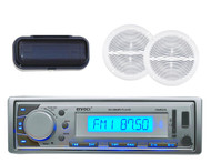 "EKMR20SL Marine AM/FM MP3 Player USB SD AUX iPod Input/Cover 2 6.5"" Speakers Pkg - MPE9414"
