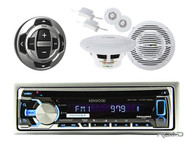 Marine Boat CD MP3 Radio USB iPod iPhone Receiver/2 Speakers + KCARC35MR Remote - MPK3402