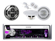 Marine Boat CD/MP3 USB iPod iPhone Pandora Radio Stereo/ 2 Speakers/Wired Remote - MPK3802