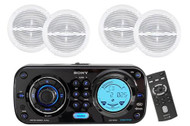 "Sony CDXH910UI Waterproof Marine CD MP3 iPod iPhone Radio Stereo w/6.5"" Speakers - MPS9022"