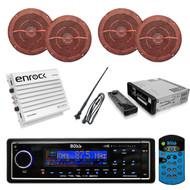 Boss MR1560DIB AM/FM with iPod Docking Marine Radio 400W Amp Antenna 4 Speakers  - RBMPB1721