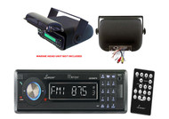 AQCD60BTB Lanzar InDash Marine Boat AUX CD Radio, Black Universal Stereo Housing