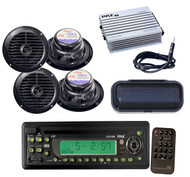 """New Boat AM/FM In-Dash CD/MP3 Player, 6.5"""" Waterproof Speakers,400W Amp, Antenna"""