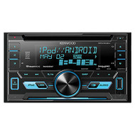 Kenwood DPX302U Double 2 DIN CD Receiver with Front USB & Aux Inputs, Sirius XM, Includes Remote Control