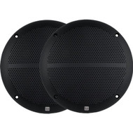 New Pair Dual DMP660B 6.5-Inch Dual Cone Marine Boat Yacht Stereo Speakers 2 X Speakers Black