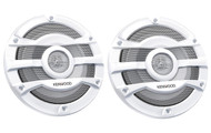 "Kenwood KFC-2053MRW 8"" 2 Way Marine Speakers Pair 300w Max White KFC2053MRW"