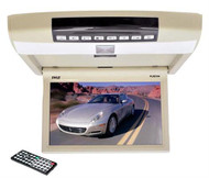 "New Pyle PLRD104 10.4"" Roof Mount Monitor Built-In DVD CD USB SD Player + Remote"