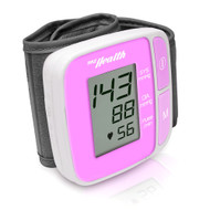 New pyle Bluetooth SMART Wrist Blood Pressure Monitor with Free Downloadable Health Tracking App and Adjustable Strap, Safe for All Ages (Pink Color)