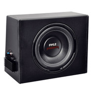 New Pyle PLPR10A 10'' Slim Design Powered Enclosure Subwoofer System
