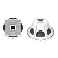 AQW10 Lanzar800 Watts 10'' Marine Subwoofer (White Color)