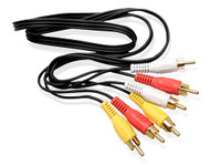 Composite Audio Video Cable 10FT 3-RCA (L + R + V) AV Gold Plated Male M/M 10'
