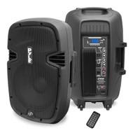 New PPHP1537UB 15'' 1200W Power 2-Way Speaker MP3 USB SD Bluetooth Music +Remote