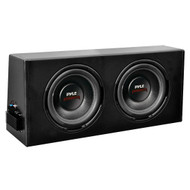 New Pyle PLPR210A Dual 10'' Slim Design Powered Enclosure System