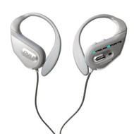 Pyle PWBH18SL Waterproof Bluetooth Streaming Headphones w/Built-in Mic, Silver