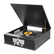 New Pyle PTT25UBT Bluetooth Vintage Portable Record player with USB-SD Recording