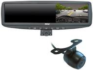 "New PLCMDVR5 HD 4.3""LCD RearView Car Mirror & DVR Recorder W/Dual Swivel Cameras"