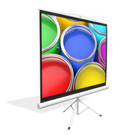 """New PRJTP72 72"""" Floor Standing Portable Fold-Out Roll-Up Tripod Projector Screen"""