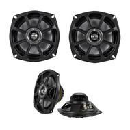 "New Pair Kicker 10 PS5250 4-Ohm 5-¼"" 2-way Marine Harley Davidson Motorcycle Coaxial Speakers System"