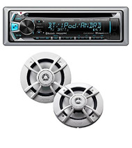 "Kenwood PKG-MR362BT Marine CD Receiver with Bluetooth and 6.5"" 2 Way Speakers Package"