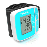 New Pyle Bluetooth SMART Wrist Blood Pressure Monitor with Free Downloadable Health Tracking App and Adjustable Strap, Safe for All Ages (Blue Color)