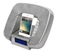 New Pyle PICL29S iPod/iPhone Speaker Dock Station Audio-In FM Radio Alarm Clock