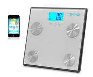 New Pyle PHLSCBT4SL Bluetooth Digital Scale & Smartphone Data Transfer - Silver