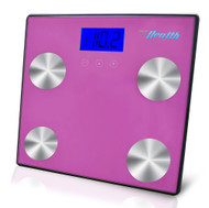 New Pyle PHLSCBT4PN Bluetooth Digital Scale & Smartphone Data Transfer - Pink