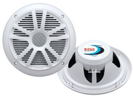 Pair MR6W Boss Audio 6.5'' 180 Watt Dual Cone Weather Proof Marine Speaker System (White)