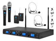 4 Channel Uhf Mic System