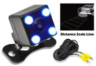 New PLCM4LED RearView Camera With 0 Lux Night Vision 4 Led Distance Scale Lights