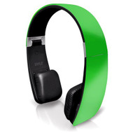 Sound 6 Bluetooth 2-in-1 Stereo Headphones with Built-in Mic for Call Answering and Easy-Touch Digital Controls (Green Color)