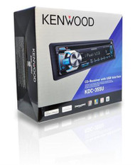 KDC355U Kenwood Car Stereo MP3/CD Receiver With Pandora Internet Radio - Front USB Port - SiriusXM Ready - Aux Input - Made For iPhone/iPod