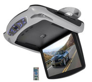 New PLRD145 13.3'' Flipdown Monitor DVD USB SD Inputs Wireless FM/IR Transmitter