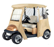 Armor Shield Club Car Golf Cart Custom Enclosure, Fits Precedent® Golf Cart Models (Tan Color)